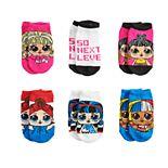 L.O.L. Surprise! Girls 4-6x 6-pack No-Show Socks