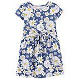 Toddler Girl Carter's Daisy Tie-Front Dress