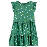 Toddler Girl Carter's Bee & Floral Ruffle Dress