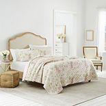 Laura Ashley Lifestyles Breezy Floral Quilt Set
