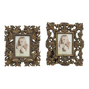 "Stella & Eve Antique Inspired 4"" x 6"" Frame 2-piece Set"