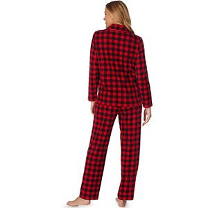 Women's Jammies For Your Families® Cool Bear Plaid Shirt & Pants Pajama Set by Cuddl Duds