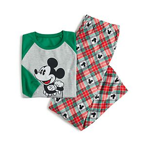 Disney's Mickey Mouse Men's Plaid Top & Bottoms Pajama Set by Jammies For Your Families®