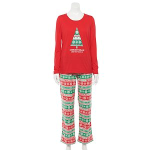 Jammies For Your Families® Women's Christmas Like You Mean It Top & Bottoms Pajama Set