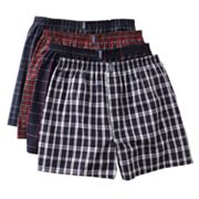 Jockey 4-pk. Plaid Boxers