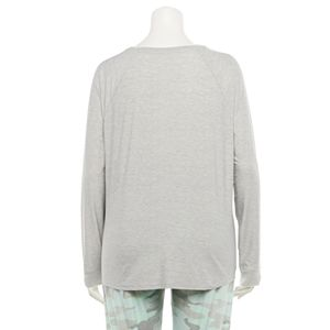 Juniors' Plus Size SO® Crewneck Pajama Top