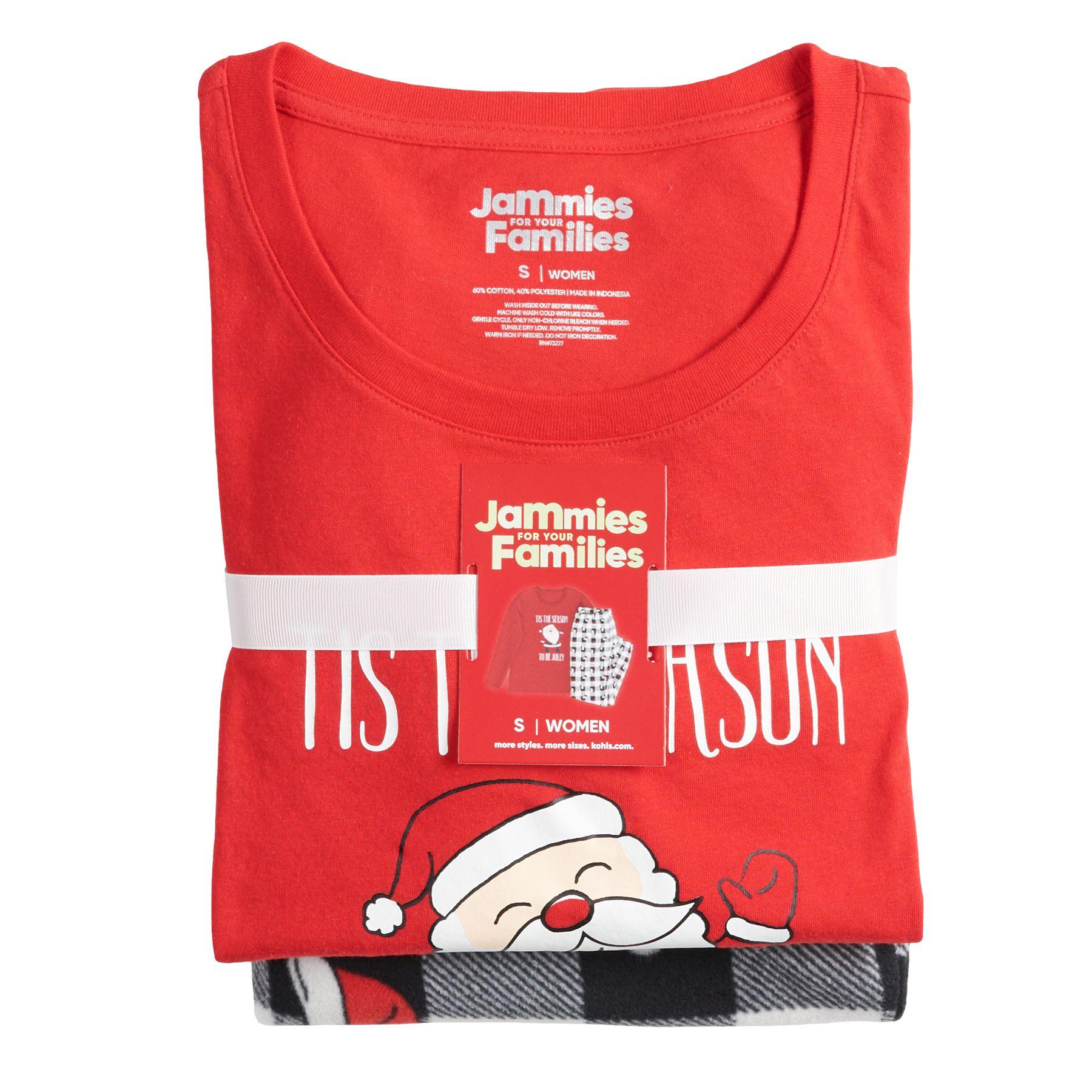 Women's Jammies For Your Families® Jolly Santa Top & Bottoms Pajama Set