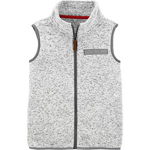 Boys 4-14 Carter's Zip-Up Sherpa Vest
