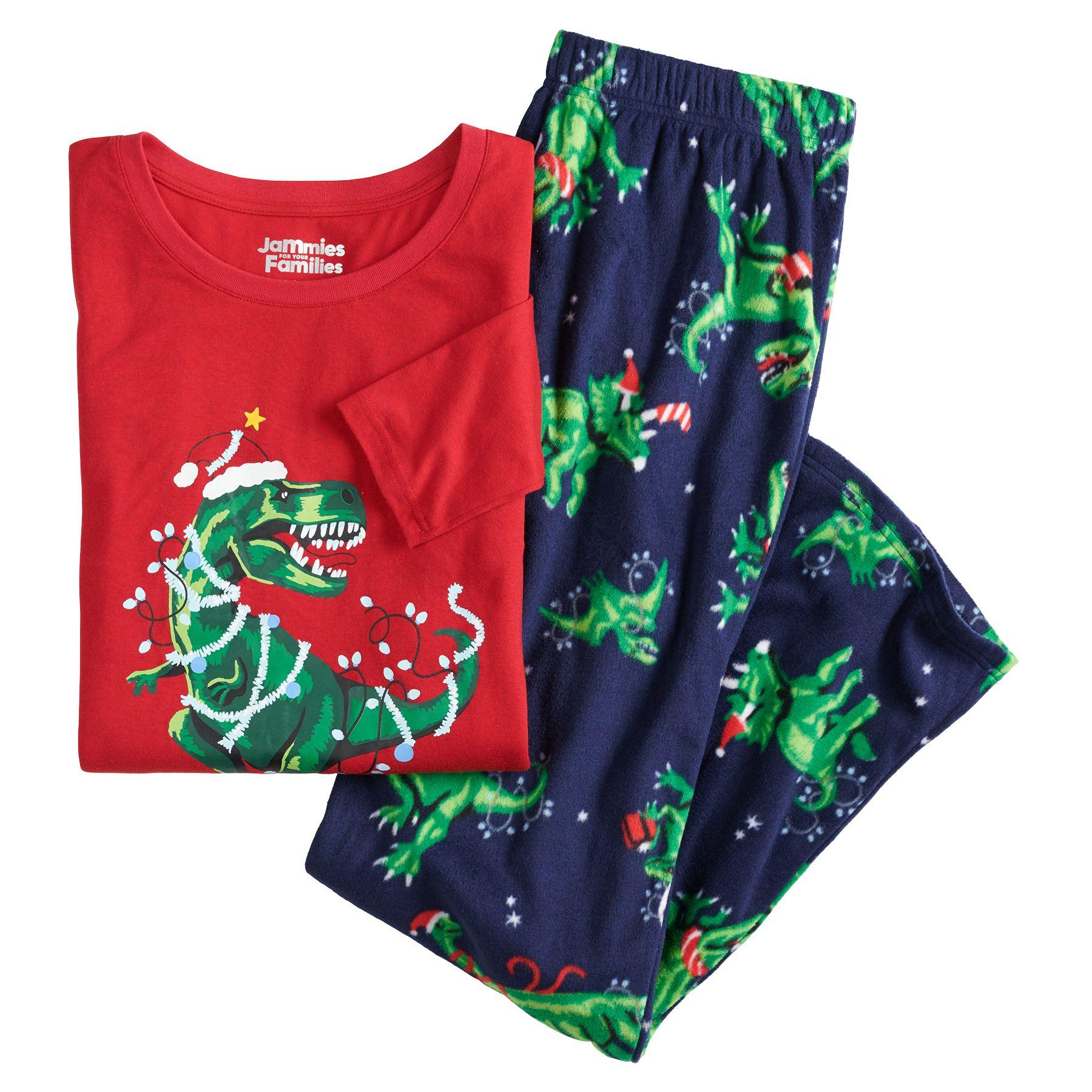 Jammies For Your Families® Women's Dinosaur Top & Bottoms Pajama Set