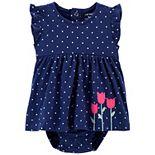 Baby Girl Carter's Polka Dot Sunsuit