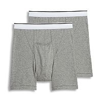 Men's Jockey 2 pkPouch Stretch H-Fly Full Rise Boxer Briefs