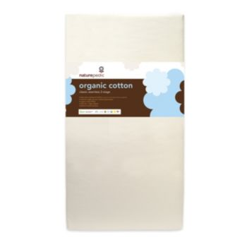 Naturepedic No-Compromise Organic Cotton Dual Seamless Crib Mattress