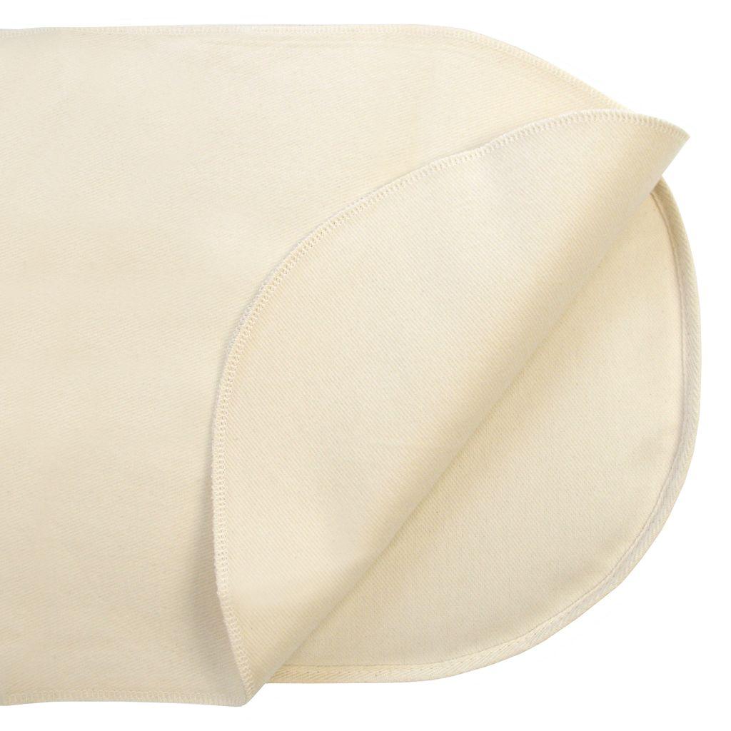 Naturepedic Organic Cotton Oval Bassinet Mattress Protector Pad