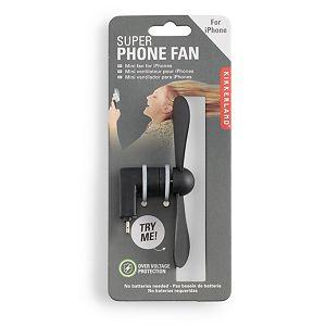 Kikkerland Black Phone Fan