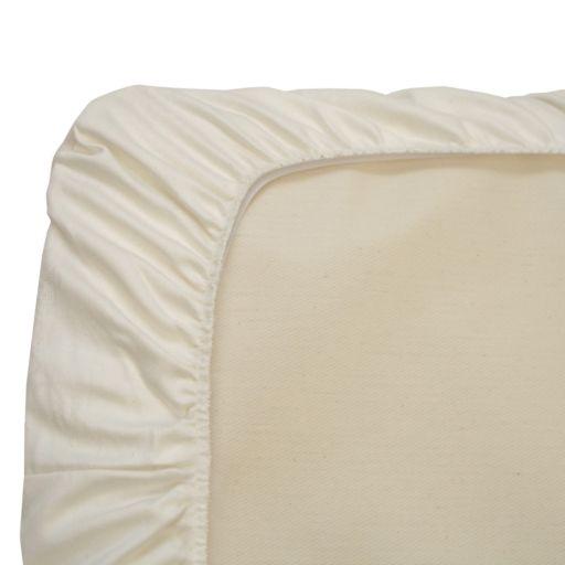Naturepedic Organic Cotton Crib Mattress Fitted Protector Pad