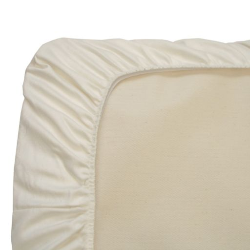 Naturepedic Organic Cotton Flannel Fitted Crib Pad