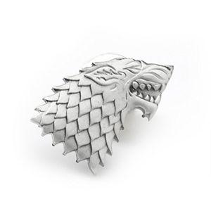 Men's Stark Direwolf Antiqued Lapel Pin