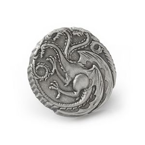 Men's Targaryen Dragon Antiqued Lapel Pin