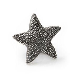 Men's Starfish Black Antiqued Lapel Pin
