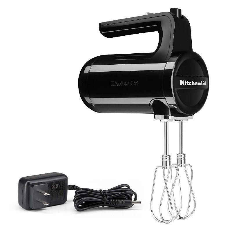 KitchenAid KHMB732 Cordless 7-Speed Hand Mixer, Black, 7 SPEED