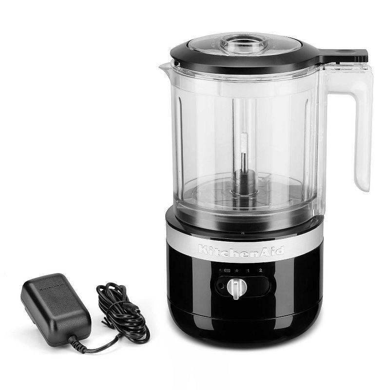 KitchenAid KFCB519 Cordless 5-Cup Food Chopper, Black, 5 CUP