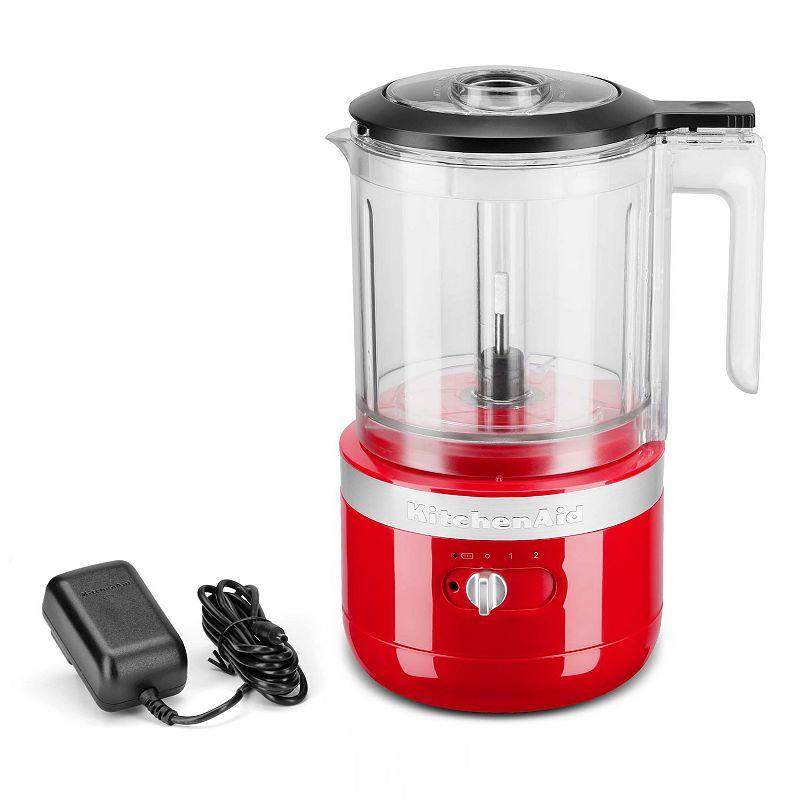 KitchenAid KFCB519 Cordless 5-Cup Food Chopper, Dark Red, 5 CUP