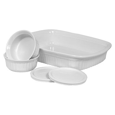 CorningWare French White 5-pc. Bakeware Set