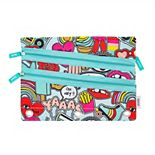 Yoobi Triple Zip Binder Pencil Case