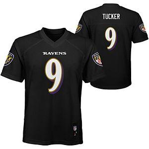 Youth Nike Justin Tucker Black Baltimore Ravens Alternate Game Jersey