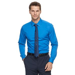 Mens Apt. 9 tall slim fit apt.9 stretch spread collar dress shirt