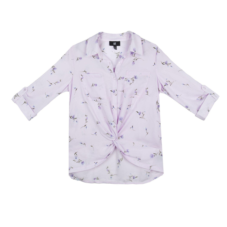 Juniors' IZ Byer Twist-Front Long Sleeve Top