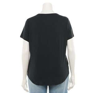 Juniors' Plus Size SO® Short Sleeve U-Neck Tee
