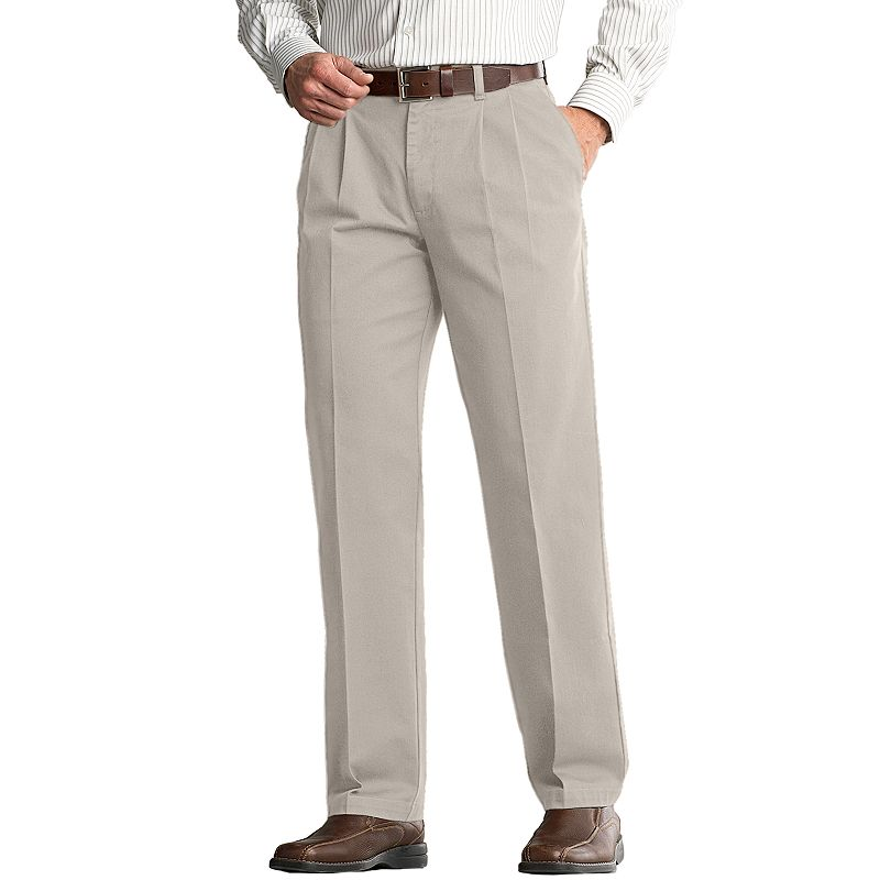 Lee Comfort Fit Classic-Fit Pleated Pants