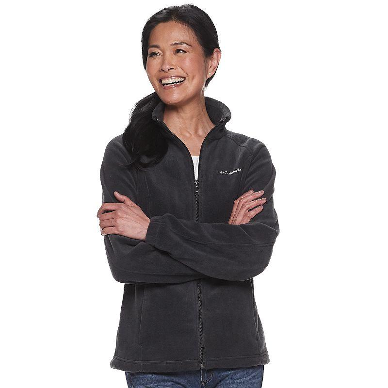 Women's Columbia Benton Springs Zip-Front Fleece Jacket. Size: XXL. Grey