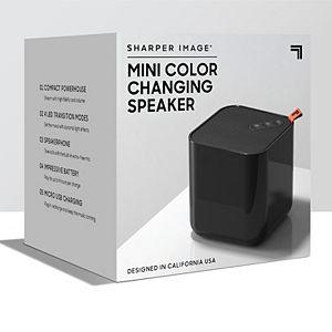 Sharper Image Mini Color Changing Speaker