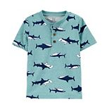 Baby Boy Carter's Shark Henley Top