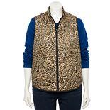 Plus Size Croft & Barrow® Woven Quilted Vest