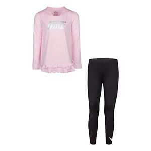 Girls 4-6x Nike Dri-FIT Hooded Tee & Leggings Set