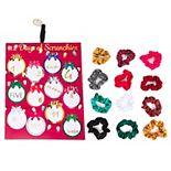 Women's 12 Days of Scrunchies Christmas Colors Scrunchie Set