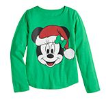 Disney's Minnie Mouse Girls 7-16 Christmas Santa Hat Graphic Tee by Family Fun?