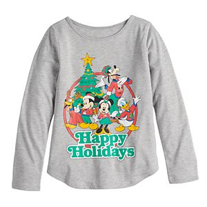 """Disney's Mickey & Minnie Mouse Toddler Girl """"Happy Holidays"""" Graphic Tee by Family Fun?"""