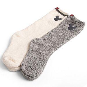 Disney's Mickey Mouse Women's Barefoot Dreams® Cozychic® 2-pack Socks