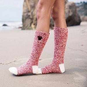 Disney's Minnie Mouse Women's Barefoot Dreams® Cozychic® 2-pack Socks