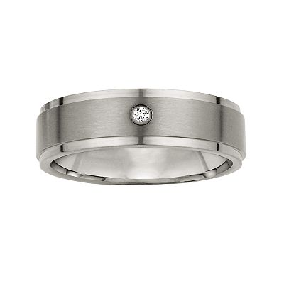 Cherish Always Titanium Diamond Accent Band - Men