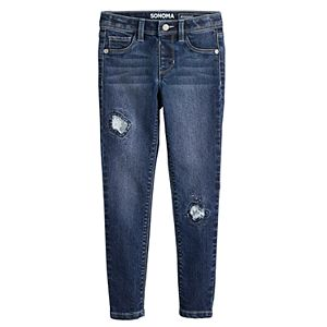 Girls 4-6x Sonoma Goods For Life® Rip & Repair Jeggings