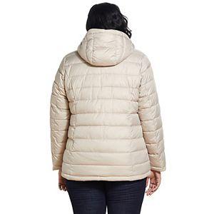 Plus Size Weathercast Hooded Puffer Jacket