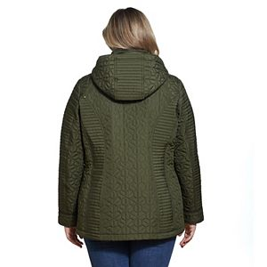 Plus Size Weathercast Hood Quilted Jacket