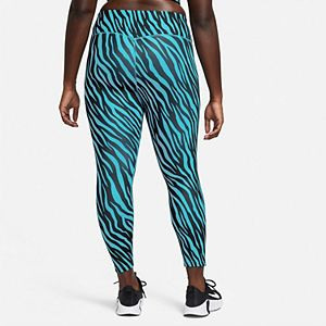 Plus Size Nike One Icon Clash Printed Ankle Leggings