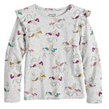 Girls 4-12 Jumping Beans® Ruffle Sleeve Cozy Graphic Top