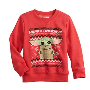 Toddler Boy Jumping Beans® The Child aka Baby Yoda Holiday Graphic Sweatshirt
